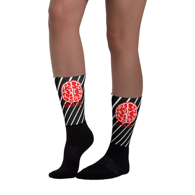Nothing But Chaos Striped Brain Socks
