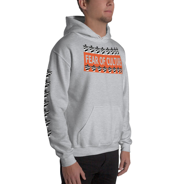 Fear Of Culture Flag Icon Logo Hooded Sweatshirt