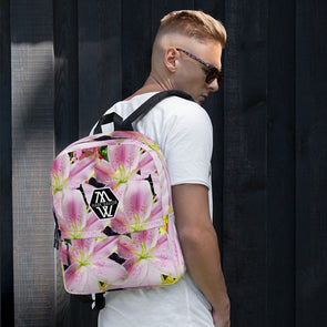 Mark Savior Flower Print Backpack