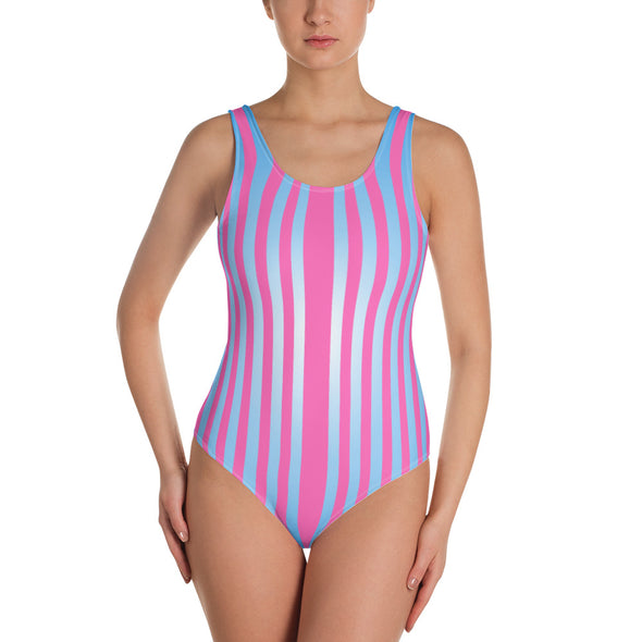 Striped Love One-Piece Swimsuit