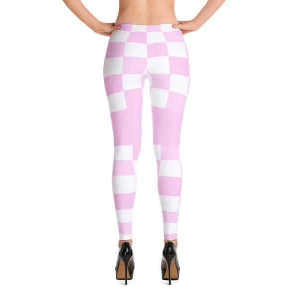 Pink Squares Leggings