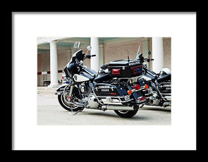 Motorcycle Cruiser - Framed Print