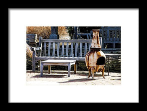 Rusty Antique Fire Place - Framed Print