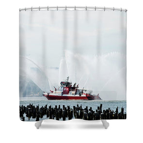 Water Boat - Shower Curtain