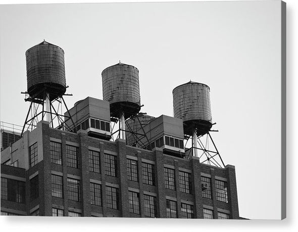 Water Towers - Acrylic Print