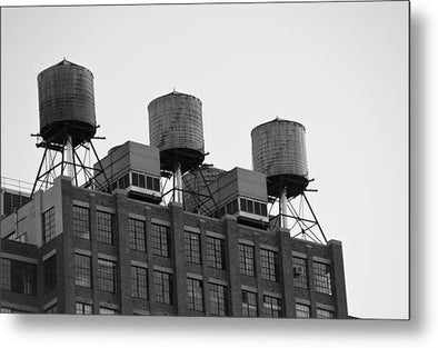 Water Towers - Metal Print