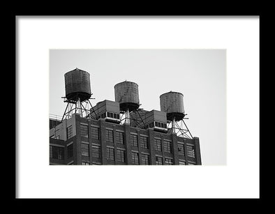 Water Towers - Framed Print