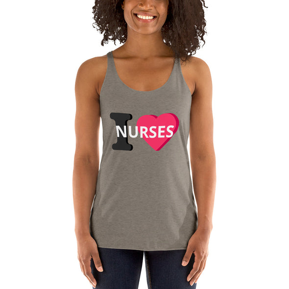 I Love Nurses Women's Racerback Tank