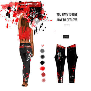 """Love for Love"" low waist  Leggings"