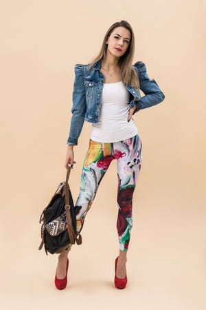 """Garden"" high waist Leggings"