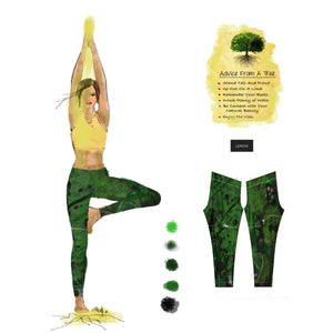 """Tree of your life "" Low Waist Leggings"