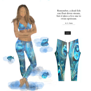 """Under the sea"" low waist Leggings"