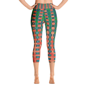 """Choices"" High Waist Capri Leggings"