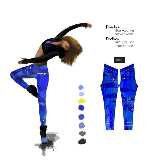 """ Blue mix ""low waist Leggings"