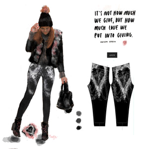 """Give love"" low waist Leggings"