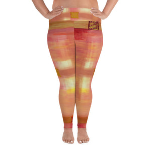 """Open window""  Plus Size Leggings"