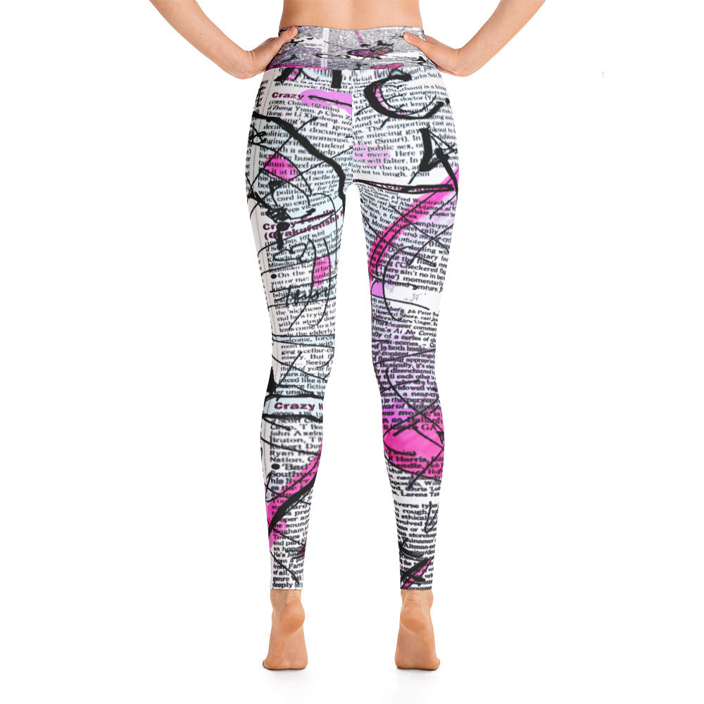 """Crazy heart"" high waist Leggings"