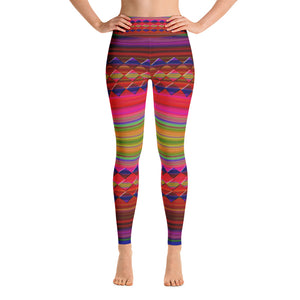 """Let's color"" high waist Leggings"