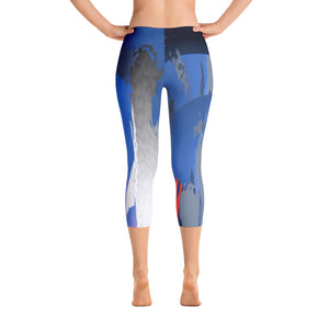 """I am the storm"" Capri Leggings"
