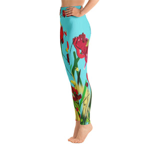 """Wild flower"" High waist  Leggings"