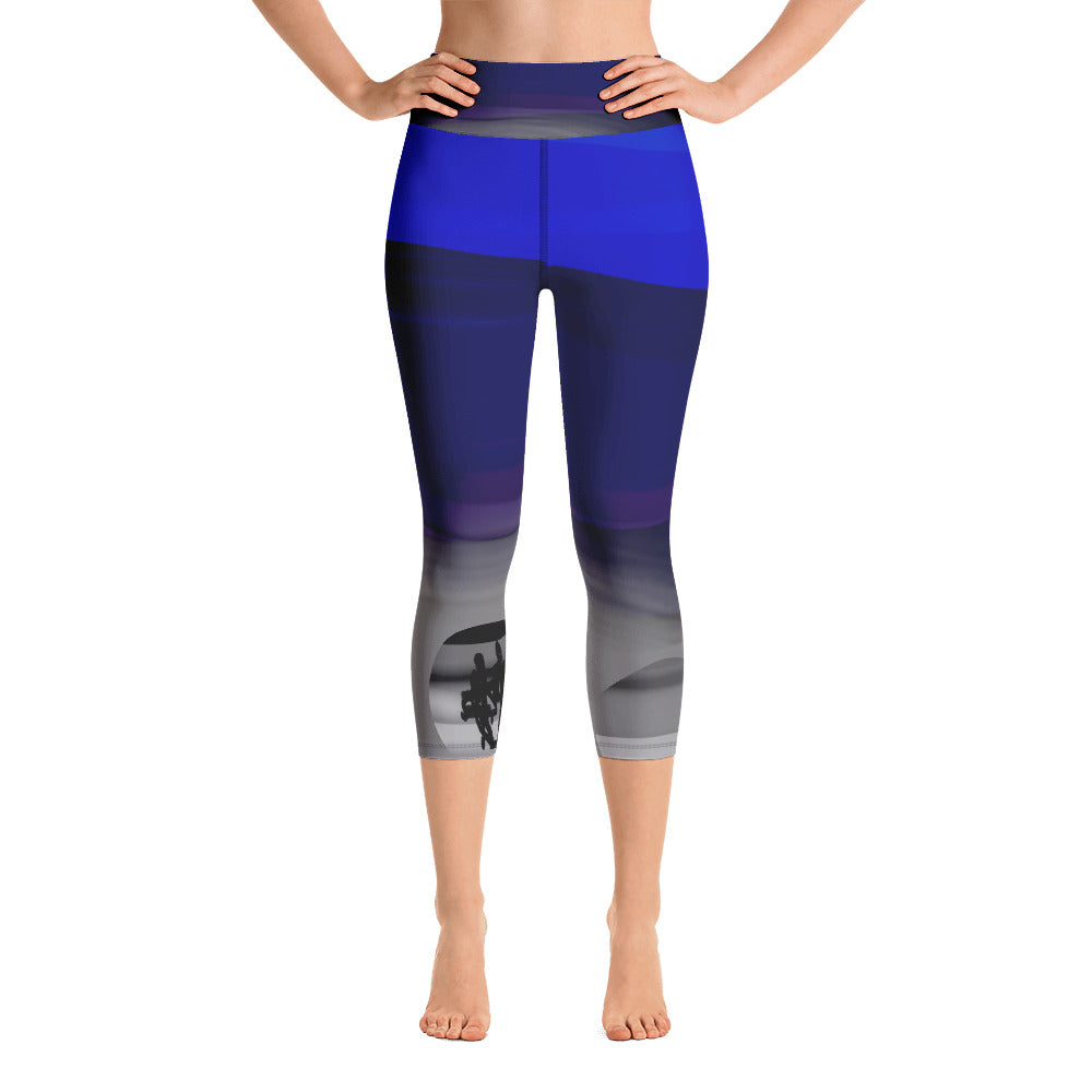 """Summer love"" High Waist  Capri Leggings"
