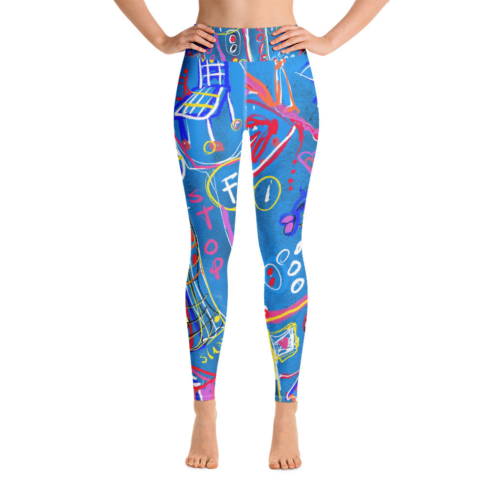 """Sudoku"" High Waist Leggings"