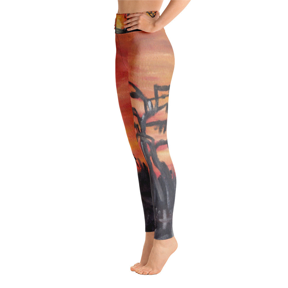 """African sunset"" high waist Leggings"