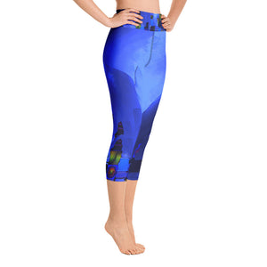 """Beneath the walls"" High Waist  Capri Leggings"