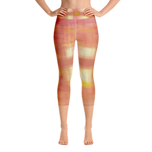 """Open window"" High Waist  Capri Leggings"