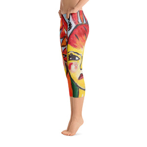 """He loves me He loves me not"" Capri Leggings"