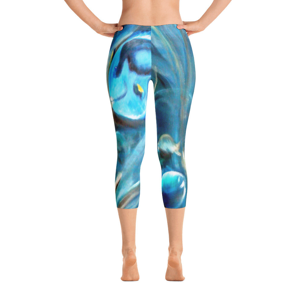 """Under the sea"" Capri Leggings"