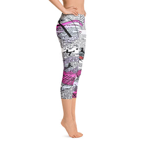 """Crazy heart"" Capri Leggings"