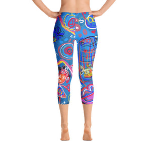 """Sudoku"" Capri Leggings"