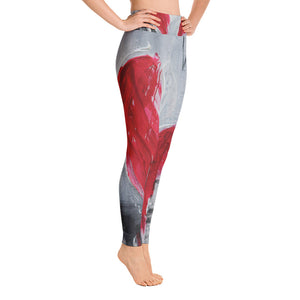 """Remember love"" high waist Leggings"