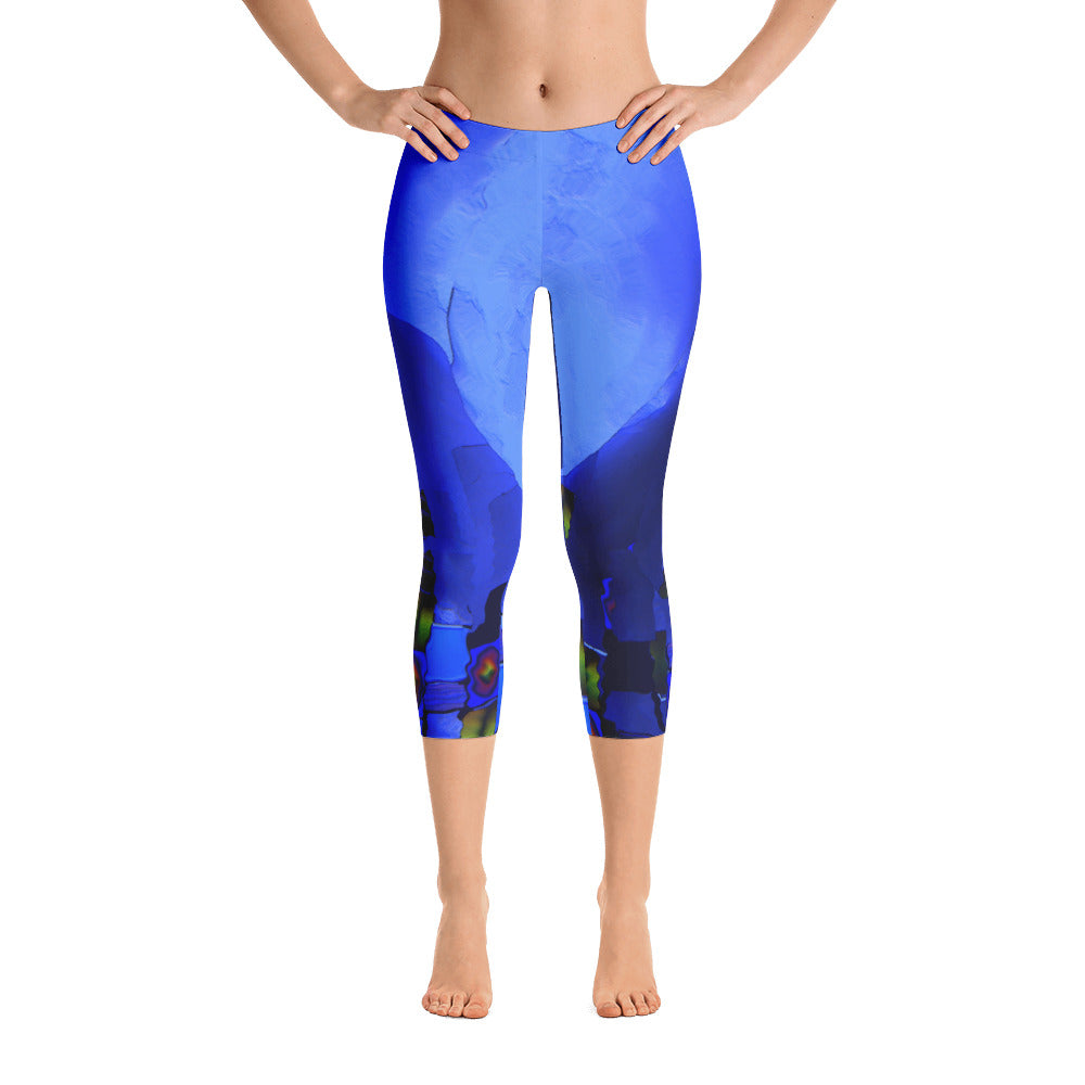 """Beneath the walls""  Capri Leggings"