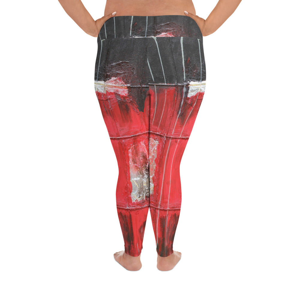 """Future"" High Waist  Plus Size Leggings"