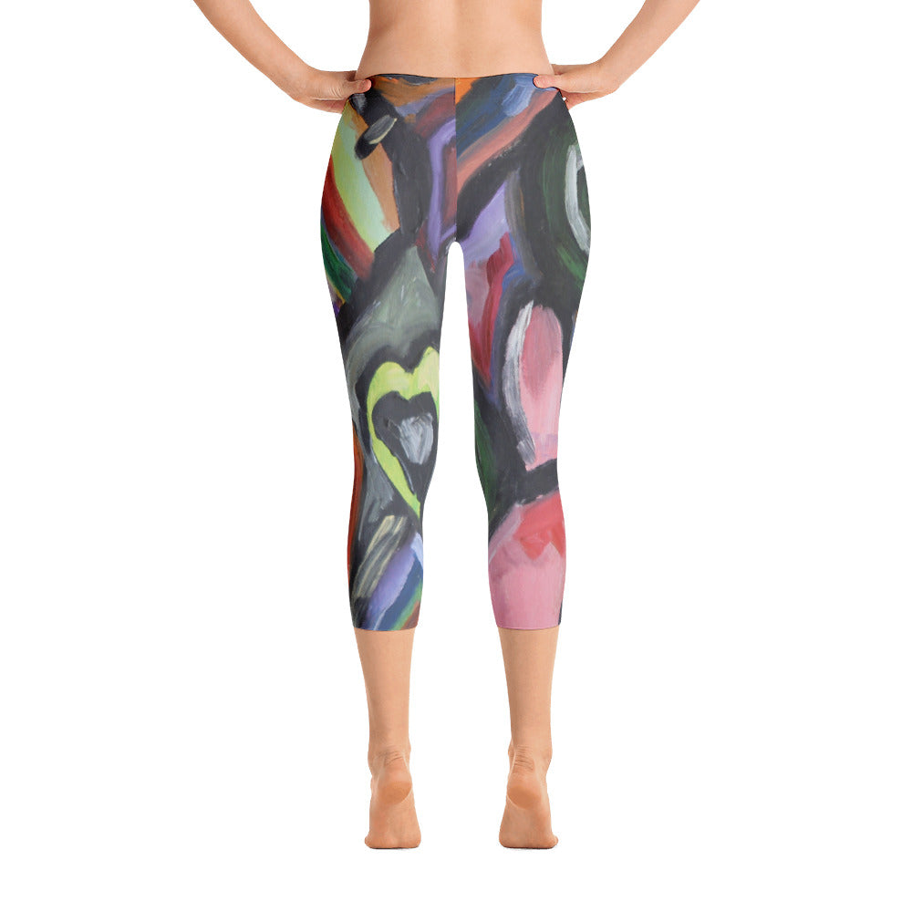 """Crazy life""  Capri Leggings"