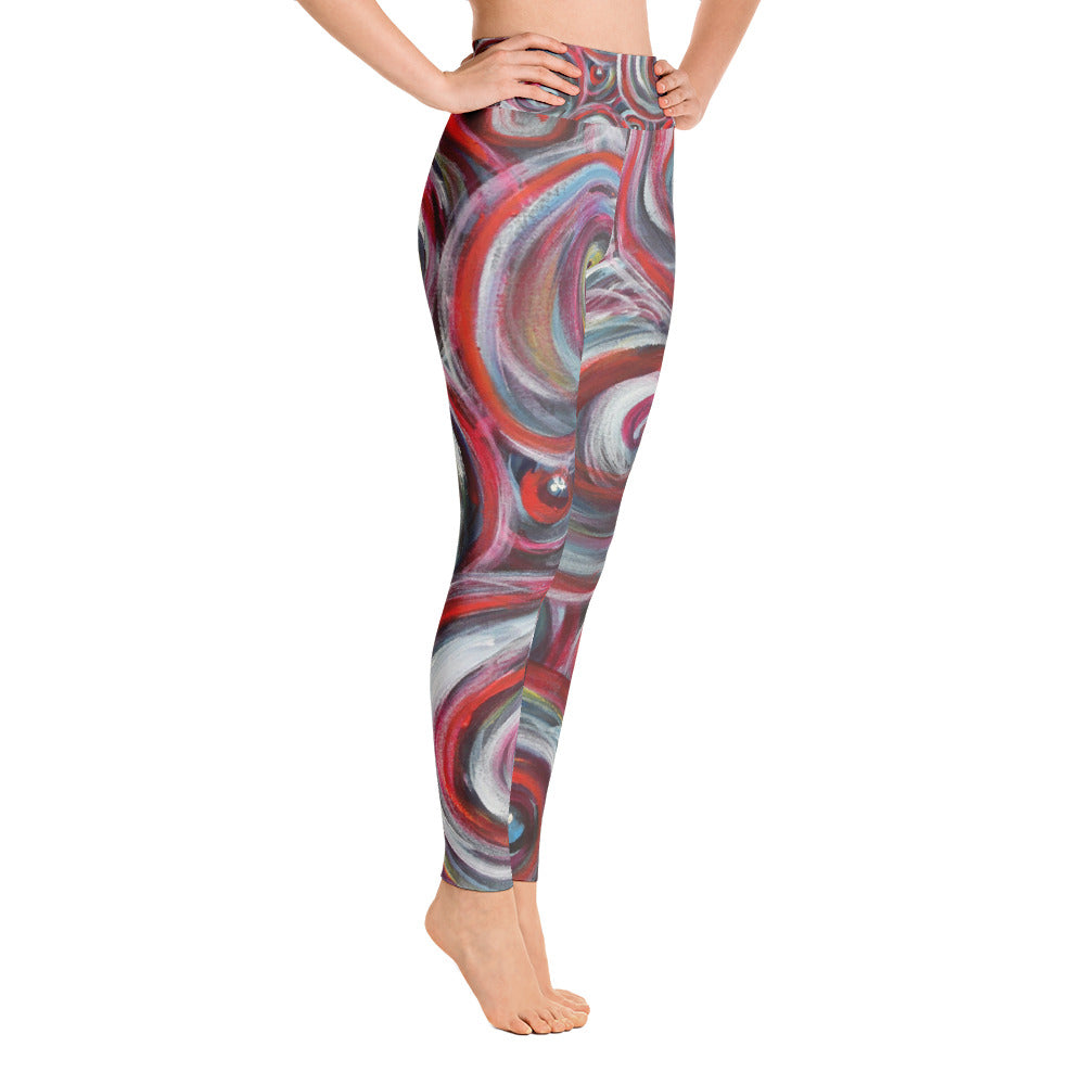 """Life is good"" high waist Leggings"