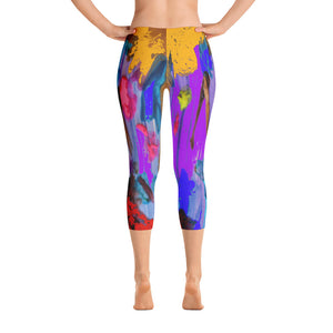 """My palette"" Capri Leggings"