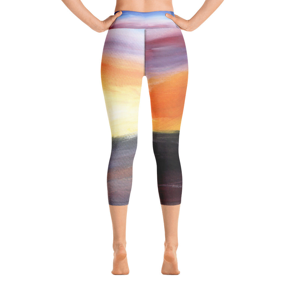 """Rainbow"" High Waist  Capri Leggings"
