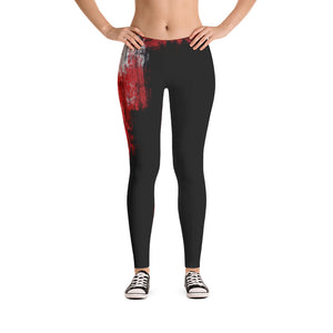 """A single rose"" Low waist Leggings"