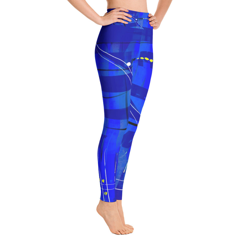 """Blue mix"" high waist Leggings"