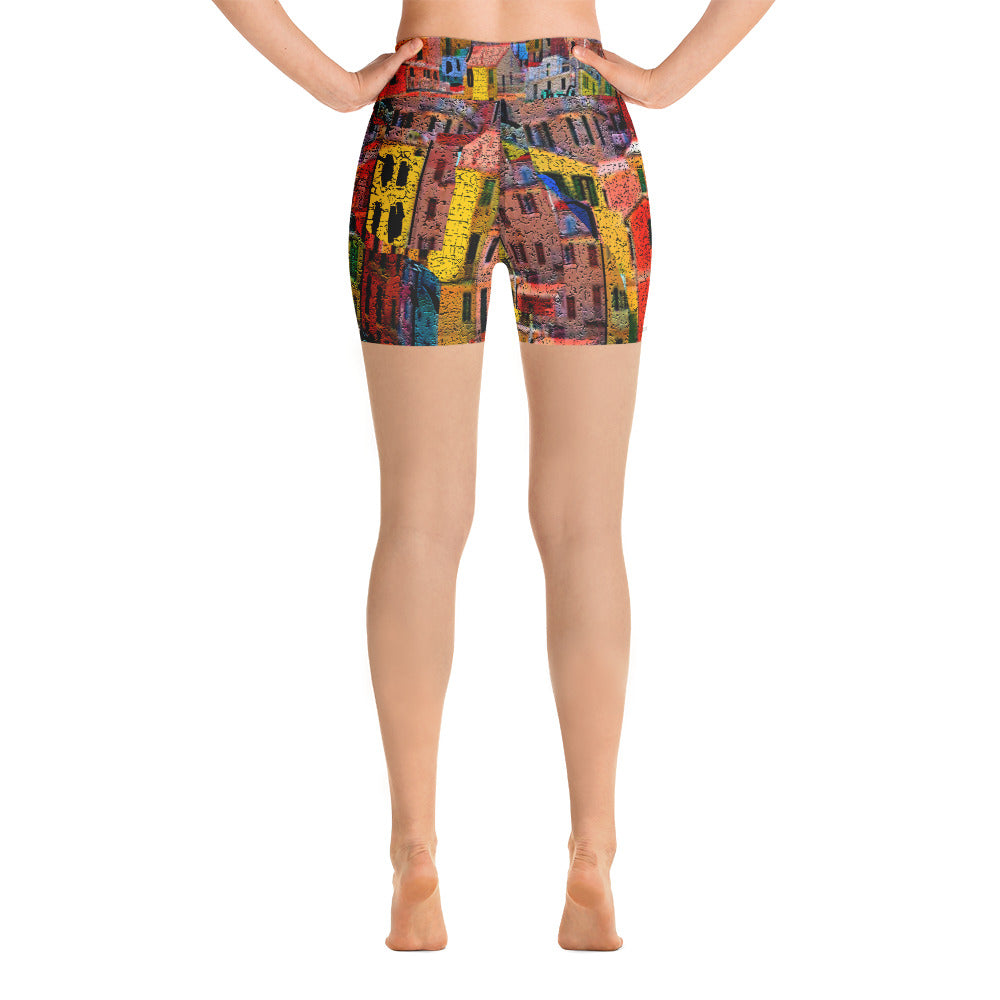 """Bella Citta"" Yoga Shorts"