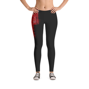 """ Single rose"" Low waist Leggings"