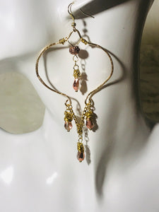Hammered Wire Chandelier Earrings