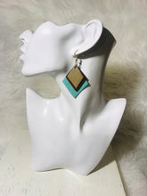 Cascading Leather Tri-Color Earring