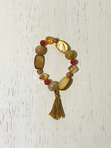 Earth-toned Tassel Bracelet