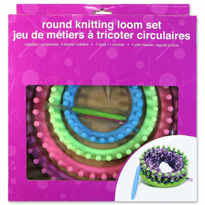 Round Knitting Looms - Set of 4 - Pastel Colours