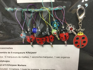 Kifaijazer Stitch Markers with Organza Bag