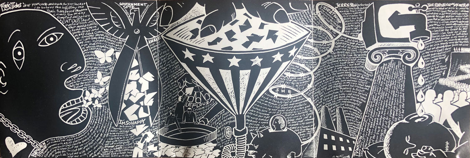 "Otto's Revenge - Inside cover art from our record ""Exercise Your Freedom of Speech."""
